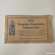 Postales: XXII CONGRESO EUCARISTICO INTERNACIONAL , BLOC 5 POSTALES . HAUSER Y MENET 1911. Lote 277619683