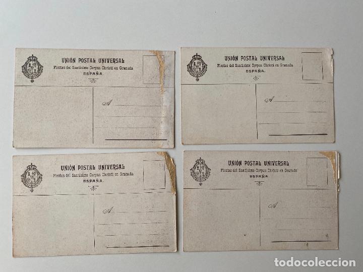 Postales: 4 POSTALES , FIESTAS DEL SANTISIMO CORPUS CHRISTI EN GRANADA , LIT. JOSÉ GOMEZ - Foto 2 - 277622498