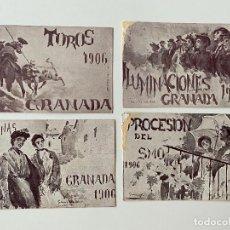 Postales: 4 POSTALES , FIESTAS DEL SANTISIMO CORPUS CHRISTI EN GRANADA , LIT. JOSÉ GOMEZ. Lote 277622498