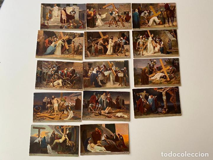 14 POSTALES SERIE COMPLETA , GEBHARD FUGEL , M.H. (Postales - Postales Temáticas - Religiosas y Recordatorios)