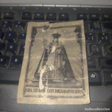 Postales: ESTAMPA RELIGIOSA VIRGEN DE LOS DESAMPARADOS DE VALENCIA. Lote 278278263