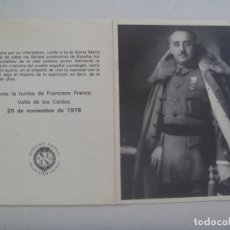 Postales: RECORDATORIO MUERTE DE FRANCISCO FRANCO . FUNADACION FRANCISCO FRANCO, 1978. Lote 278569298