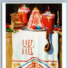 Postales: EASTER CAKE CANDLE ETHNIC KITCHEN STOCKHOLM RARE 1000 COPY RUSSIA POSTCARD. Lote 278720423