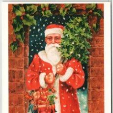Postales: MERRY CHRISTMAS! SANTA CLAUS MISTLETOE GERMANY RARE 1000 COPY RUSSIA POSTCARD. Lote 278720743