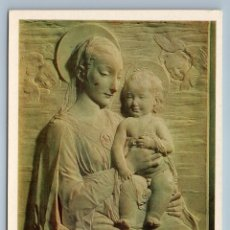 Postales: MADONNA & CHILD CHRISTIANITY BAS -RELIEF BY ROSSELINO 1983 OLD VINTAGE POSTCARD. Lote 278733183