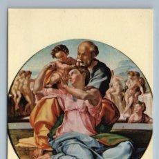 Postales: HOLY FAMILY MADONNA JESUS MICHELANGELO ITALIAN ART VINTAGE POSTCARD - MICHELANGELO. Lote 278738873