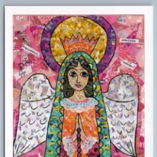 Postales: HOLY MOTHER OF GOD ANGEL PRAY FOR YOU UNUSAL ART COLLAGE RUSSIAN NEW POSTCARD - OKSANA MELNICHUK. Lote 278742268