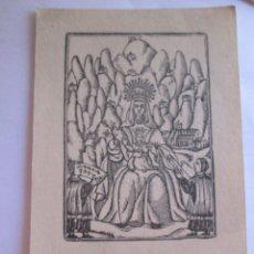 Postales: ESTAMPA FIESTA EN MONTSERRAT - FACULTAD FILOSOFIA Y LETRAS UNIVERSIDAD BARCELONA CURSO 1943-44. Lote 278756433