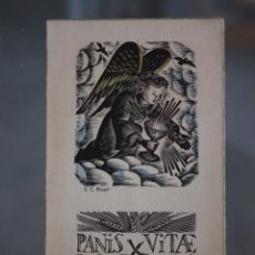 Postales: PANIS VITAE RECORDATORIO PRIMERA COMUNIÓN. Lote 278923658