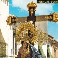 Postales: ALMERIA, HUERCAL OVERA, VIRGEN NTRA. SRA DE LAS ANGUSTIAS. ED. POSTALES GIRA Nº 8. AÑO 1970. ESCRITA. Lote 279446548