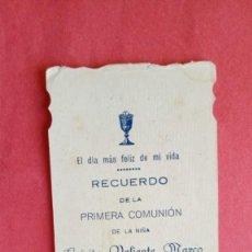 Postales: LUISITA VALIENTE MARCO.-PRIMERA COMUNION.-ESTAMPA RELIGIOSA.-CASTELLAR.-JAEN.-AÑO 1926.. Lote 280109358