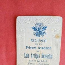 Postales: LUIS ARTIGAS REVENTOS.-PRIMERA COMUNION.-ESTAMPA RELIGIOSA.-BARCELONA.-AÑO 1916.. Lote 280109543