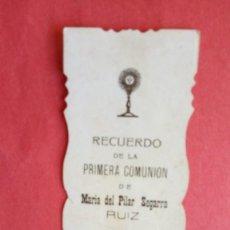 Postales: MARIA DEL PILAR SEGARRA.-PRIMERA COMUNION.-ESTAMPA RELIGIOSA.-MADRID.-AÑO 1915.. Lote 280109678