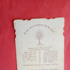 Postales: ANGELES ANAYA JORQUERA.-PRIMERA COMUNION.-ESTAMPA RELIGIOSA.-SEVILLA.-AÑO 1913.. Lote 280109833