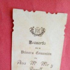 Postales: ANA MARIA MIR Y ROSELL.-PRIMERA COMUNION.-ESTAMPA RELIGIOSA.-BARCELONA.-AÑO 1913.. Lote 280109943