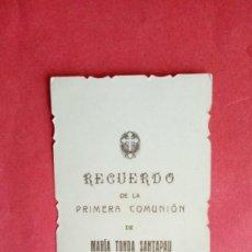 Postales: MARIA TONDA SANTAPAU.-PRIMERA COMUNION.-ESTAMPA RELIGIOSA.-ALICANTE.-AÑO 1911.. Lote 280111438
