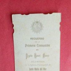 Postales: PEPITA BONET MARCE.-PRIMERA COMUNION.-ESTAMPA RELIGIOSA.-BARCELONA.-AÑO 1911.. Lote 280111583