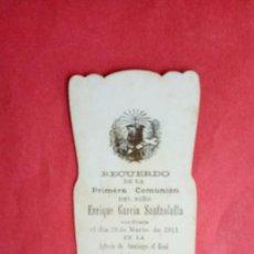 Postales: ENRIQUE GARCIA SANTAOLALLA.-PRIMERA COMUNION.-ESTAMPA RELIGIOSA.-LOGROÑO.-AÑO 1911.. Lote 280111713