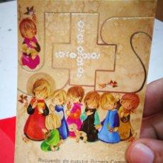 Cartoline: RECORDATORIO PRIMERA COMUNIÓN JOSÉ IGNACIO Y YOLANDA MARTÍN DÍAZ 1975 PEDRRNALES CAPILLA DE NUESTRA. Lote 283632418