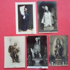 Cartes Postales: SAN IGNACIO DE LOYOLA.-SAN AGUSTIN.-SAN JUDAS TADEO.-SAN ROQUE DE LEDAÑA.-SANTO CUSTODIO DE ESPAÑA.. Lote 285474588