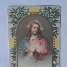 Postales: ESTAMPA RELIGIOSA ANTIGUA CORAZÓN DE JESÚS. Lote 285974928