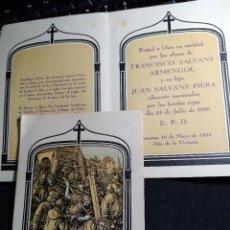 Postales: RECORDATORIO DEFUNCION * PADRE E HIJOS ASESINADOS POR LAS *HORDAS ROJAS* * TARRASA 1939. Lote 288209103