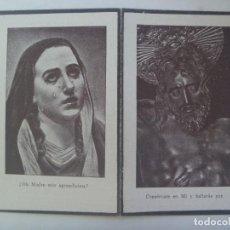 Postales: RECORDATORIO DE SEÑOR FALLECIDO EN SEVILLA EN 1938, EN PLENA GUERRA CIVIL. Lote 288572203