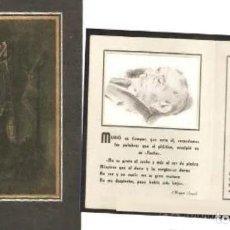 Postales: RECORDATORIO DEFUNCIÓN AÑO 1937- TARRASA. Lote 288588003