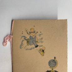 Postales: VALENCIA, BONITO NATALICIO.. LLEGADA AL MUNDO DE LA NIÑA ROSA AMPARO. ILUSTRA M C M (A.1956). Lote 288588558