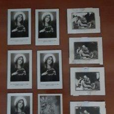 Postales: 10 RECORDATORIOS RELIGIOSOS ANTIGUOS. VER FOTOS Y DESCRIPCIÓN.. Lote 288988963