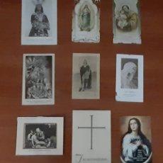 Postales: 9 POSTALES Y RECORDATORIOS ANTIGUOS. VER FOTOS Y DESCRIPCIÓN.. Lote 288995753