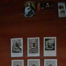 Postales: 11 RECORDATORIOS RELIGIOSOS ANTIGUOS. VER FOTOS Y DESCRIPCIÓN.. Lote 288998243