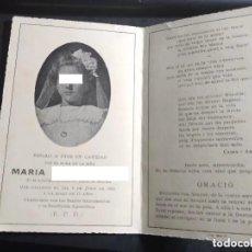 Postais: RECORDATORIO DEFUNCIÓN - AÑO 1946 - NIÑA. Lote 289315178