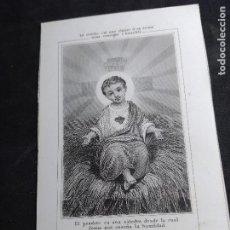 Postales: ESTAMPA * NIÑO JESÚS ( EL PESEBRE ES UN CÁTEDRA ...) *. Lote 289706438
