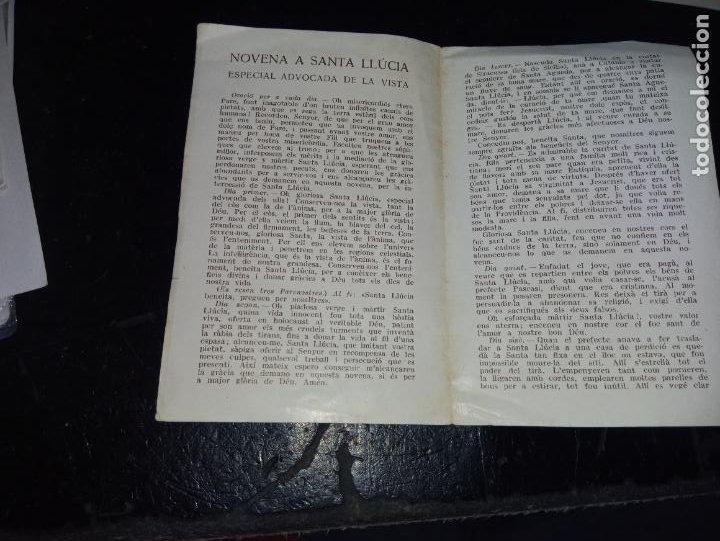 Postales: ANTIGUA ESTAMPA RELIGIOSA NOVENA A SANTA LLUCIA EDITADA POR BAÑERES ESCRITA EN CATALAN - Foto 3 - 289706828