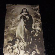 Postales: ANTIGUA ESTAMPA RELIGIOSA DE LA VIRGEN MARIA MADRE DE DIOS. Lote 289708473