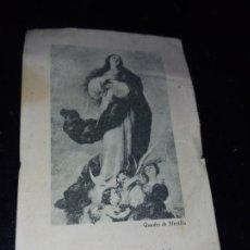 Postales: ANTIGUA ESTAMPA RELIGIOSA MARIA,ESPILL DE CASTEDAT PREGUEU PER NOSALTRES Nº9 GLORIES MARIANES. Lote 289709628