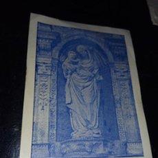 Postales: ANTIGUA ESTAMPA RELIGIOSA SANTA MARIA DE POBLET VISTIO DE HABITO ISAAC GALLEGO FRANCO 1944. Lote 289711228