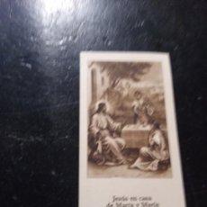 Postales: ANTIGUA ESTAMPA RELIGIOSA JESUS EN CASA DE MARTA Y MARIA EDIT LA MILAGROSA BARCELONA. Lote 290113878