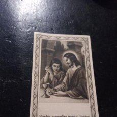 Postales: ANTIGUA ESTAMPA RELIGIOSA VENITE,CMEDITE PANEM MEUM EDIT POR LA MIRACULOSA Nº18 BARNA EN CATALAN. Lote 290115203