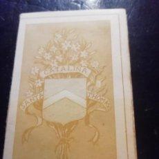 Postales: ANTIGUO LIBRILLO DE LA VIDA DE SANTA CATALINA EN 10 ESTAMPAS DE7CM X 11CM DE THOMAS. Lote 292261618