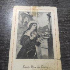 Postales: ESTAMPITA SANTA RITA DE CASIA. Lote 292341718