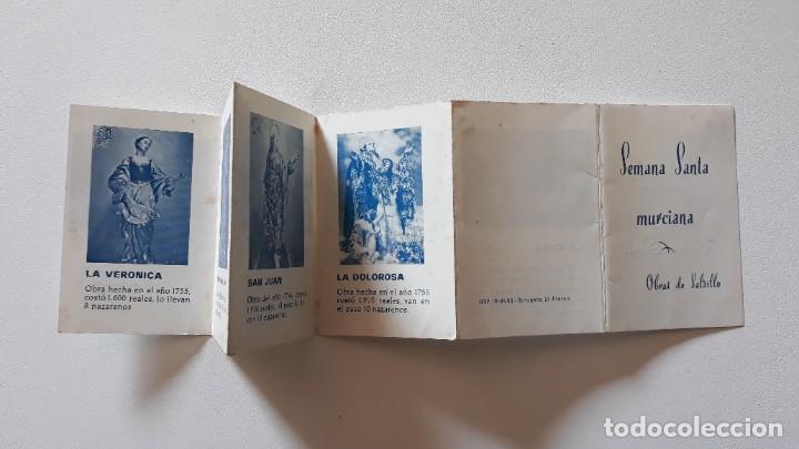 Postales: Recordatorio desplegable. Semana Santa Murciana - Obras de Salzillo. Imp. Muelas, Cartagena. - Foto 3 - 293670793