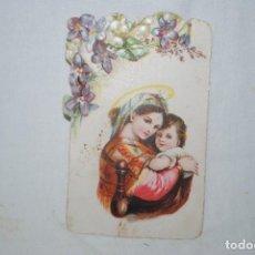 Postales: VIRGEN CON NIÑO . A . BARCELO E HIJOS . DE MALAGA .. Lote 295380783