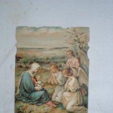 Postales: LA VIRGEN MARIA CON EL NIÑO , Y LOS ANGELES. Lote 295380928