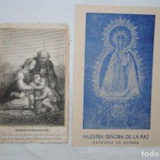 Postales: LA SAGRADA FAMILIA , NUESTRA SEÑORA DE LA PAZ. Lote 295381123