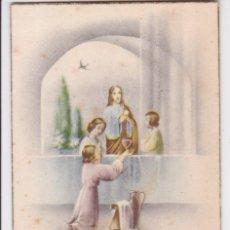 Postales: ANTIGUA ESTAMPA RECORDATORI PRIMERA COMUNIÓ - ESGLESIA DEL SM SALVADOR DE VENDRELL - 1958. Lote 295512263