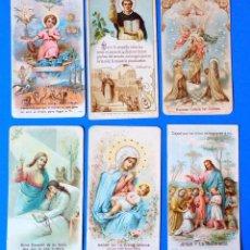 Postales: LOTE DE 6 ESTAMPAS RELIGIOSAS. Lote 295518728