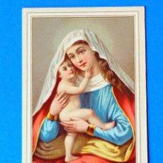 Postales: ESTAMPA RELIGIOSA. MARIA HILF. .NTRA. DE BUEN SOCORRO. AL DORSO. LA ESPAÑA. FÁBRICA DE CHOCOLATE.. Lote 295520093