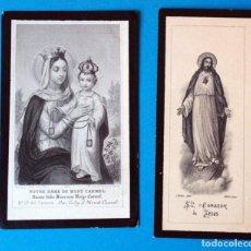 Postales: RECORDATORIO FUNERARIO.AÑOS 1899-1895. Lote 295520788